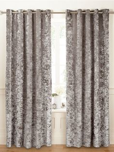 Luxe Collection Luxury Crushed Velvet Lined Eyelet Curtains In 2019 regarding measurements 1350 X 1800 Grey Velvet Curtains Bedroom - The primary function Velvet Curtains Bedroom, Shabby Chic Curtains, Yellow Curtains, Farmhouse Curtains, Rustic Curtains, Colorful Curtains, Drapes Curtains, Kitchen Curtains, Short Curtains