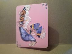 Day 25 - Flowers and Butterfly Greeting Card