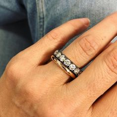 A supersized rose gold round band which is so soft its like a tyre tube and a supersized black gold and diamond eternity band. New favs! Wedding Bands For Him, Our Wedding, Wedding Rings, Wedding Bells, Eternity Ring Diamond, Eternity Bands, Rosie Huntington Whiteley, Latest Jewellery, Anniversary Bands