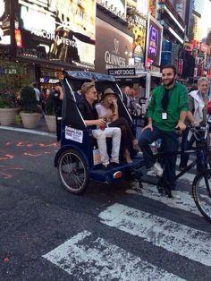 Cody Simpson & Gigi Hadid today in New York