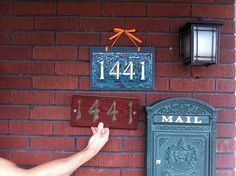 Before and After House Numbers | Flickr - Photo Sharing!