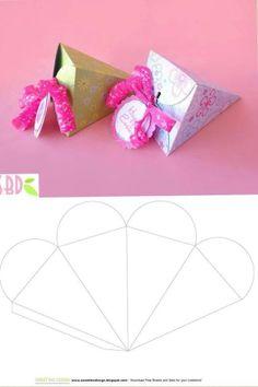 Diy Gift Box, Paper Gift Box, Diy Box, Diy Gifts, Envelope Template Printable, Paper Box Template, Printable Box, Bookmarks Diy Kids, Diy Arts And Crafts