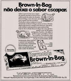 Anúncio sacos para assar Brown-In-Bag 1974