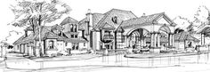 Mediterranean House Plan with 5 Bedrooms and 5.5 Baths - Plan 4501