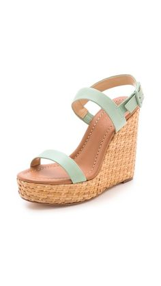 mint wedges are perfect for spring #loveit - I can' stop loving mintgreen, and this is just a perfect pair for spring and summer! <3