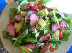 Arugula Steak Salad With Blue Cheese