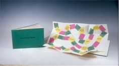 "The Family Game by Emily Martin, 2003 Subtitled ""lose just by playing"", this is a game for all ages; everyone has a family of some kind. This archival inkjet printed book contains a colorful pop out presenting the playing board. A six-page pamphlet on Mohawk superfine paper with an attached cover of Emerald Canford paper. Number 19 from an edition of 100, 5 ½ x 8 ½ inches. $40"