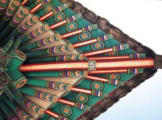 Chinese architecture.  This is the underside (room ceiling) of a bamboo roof.