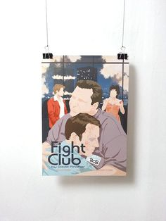 Affiche de film Fight Club - Poster David Fincher A3 Print Illustration by Minuscule Motion Sold on Etsy Movie Poster - Movie Print Present Idea - Wish list - Christmas Present