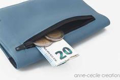 porte-monnaie portefeuille femme homme cuir par AnneCecileCreation
