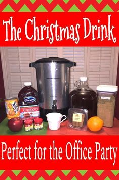 How to Make Hot Wassail the Christmas Drink for the Holiday Office Party | Easy Wassail Recipe | Russian Tea | Holiday Party Beverage | Wassail in crockpot or urn | Christmas drinks nonalcoholic | #wassailrecipe #drinkrecipe Christmas Party Drinks, Office Holiday Party, Christmas Tea, Holiday Drinks, Summer Drinks, Holiday Parties, Office Parties, Christmas Recipes, Holiday Recipes