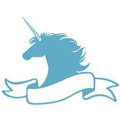 Silhouette Design Store: unicorn banner