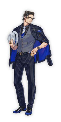 西門直明 | CHARACTER | Paradox Live Character Poses, Game Character Design, Character Creation, Character Outfits, Character Art, Suit Drawing, Pony Drawing, Anime Suit, Yakuza Anime