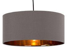 Hue Lampenschirm, Grau & Kupfer