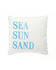 Sea Sun Sand Decorative Pillow product photo Main View T360x450