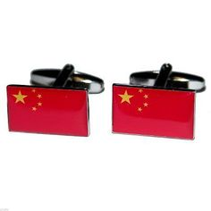 #China flag #cufflinks #x2bocf034,  View more on the LINK: 	http://www.zeppy.io/product/gb/2/310356495446/