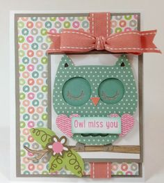 Create A Critter 2 Owl Miss You card