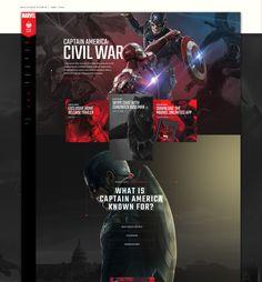 Marvel / Civil War Content Hub Concept on Behance