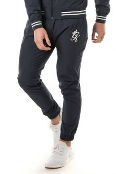 Woven Retro Tracksuit Bottoms - Navy Nights/White #gymking