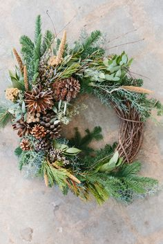 Two wreaths designed by Moon Canyon, now available in all Jenni Kayne stores, just in time for the holiday season.