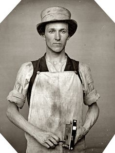 Circa 1850s occupational portrait of a latchmaker, photographer unknown. Sixth-plate daguerreotype. One of 25 occupational portraits in the Library of Congress daguerreotype collection.