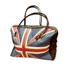 13.63 Casual Vintage Style PU Leather Women s Tote Bag With Color Block  and Zipper Design Blue 327e482d20ddb