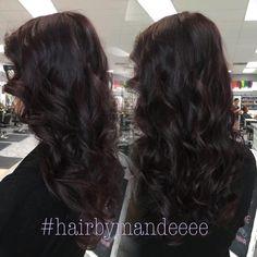 Purple  is love! #redkencolor #purplehair #plumhair #hairbrained #hairbymandeeee #cilantrohairspa #modernsalon #shadeseq #lovemyjob #hairstylist
