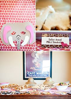 Pink Safari Theme First Birthday Party // Hostess with the Mostess®