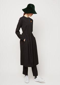 Yune Ho - Collection automne 2015. Superposition robe pantalon