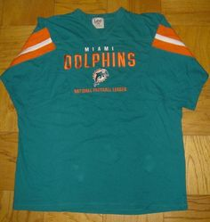 Lee Sports Miami Dolphins Green 100% Cotton Short Sleeve Shirt Jersey Size 2XL  #Lee #ShirtsTops