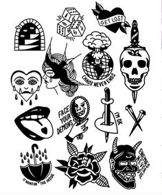 Old School Tattoo Inspiration - Old school tattoos may be the most versatile . - Old School Tattoo Inspiration – Old school tattoos are perhaps the most versatile and have proven - Flash Art Tattoos, Tattoo Flash Sheet, Body Art Tattoos, Small Tattoos, Sleeve Tattoos, Tattoos For Guys, Old Tattoos, Mini Tattoos, Tatoos