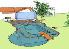 Construction de piscine naturelle en Rhône-Alpes . Lagune.
