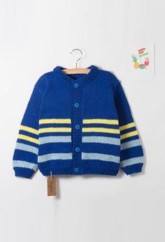 Modèle Enfant - Gilet rayé garçon Leo, Pullover, Knitting, Boys, Sweaters, Style, Patterns, Ideas, Fashion