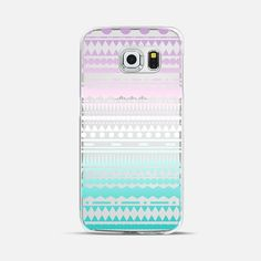 Teal Lilac Ombre Aztec Transparent Galaxy S6 Edge Case by Organic Saturation | Casetify