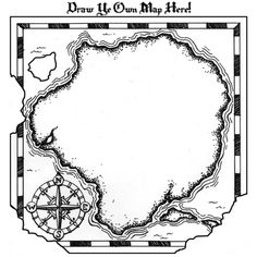 FREE TREASURE MAP PRINTABLE~ Great way to teach map skills or kick off a fun, creative writing lesson. Leuk voor mijn schrijflessen als extra toevoeging!