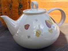 Metlox Vernonware Vernon SHERWOOD Teapot w/Lid and Cup/Saucer x4 -10 pieces WOW #MetloxPoppytrailVernonware
