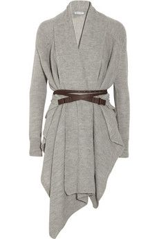 KAUFMANFRANCO | Belted knitted alpaca cardigan | NET-A-PORTER.COM - StyleSays