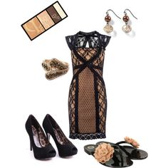 Nude Lace, created by shemshay on Polyvore