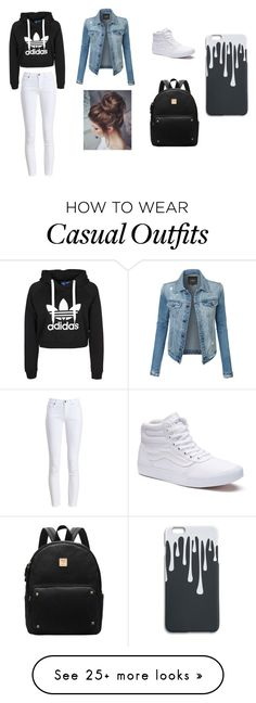 """Casual city look"" by madisongramlich on Polyvore featuring LE3NO, Barbour and Vans"