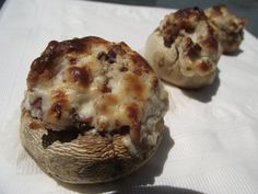 Cream Cheese and Bacon Stuffed Mushrooms (Low Carb/High Fat)