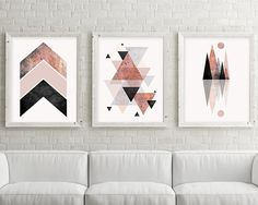 Downloadable Prints, Set of 3 print, Blush Pink, Rose Gold, 3 Set, Minimalist Poster, Scandinavian Modern, Scandinavian, Geometric, Trending THESE ARE INSTANT DOWNLOADS – Your files will be available instantly after purchase. :::: Please note that this is a digital download