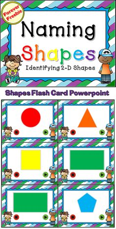 Forever Freebie!   This flash card set includes 10 shapes. Perfect for reviewing shapes. Best of all, the flash cards are random. They will be different every time(with the exception of the first one)!Great for a morning board or whole clase math activity.