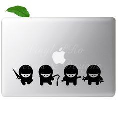 Cool Ninja Decal Set  For Macbook choose color by StickerSwagger, $8.99