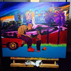 Tupac & Kendrick Lamar oil painting by RhymesAndOils on Etsy