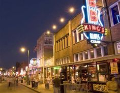 Beale Street at night, Memphis, Tennessee. (© Getty Images)