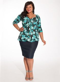 Plus Size Denim Skirt #bbw #curvy #fullfigured #plussize #thick #beautiful #fashionista #style #fashion #shop #online www.curvaliciousclothes.com TAKE 15% OFF Use code: TAKE15 at checkout