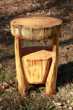 New refined rustic side tables
