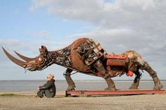 Scrap Metal Animal Sculptures - The Scrap Metal Animals by Christian Champin are Recycled Brilliance (GALLERY)