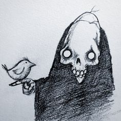 I love this little sketch by @iamstevecoleman Follow @darkcomforts for stuff like this. . . . . . #horror_sketches #darkartist #creepycute #grimreaper #horrorart #horrorfan #skullart #gothgoth Creepy Sketches, Creepy Drawings, Drawing Sketches, Sketching, Horror Drawing, Horror Art, Scary Things To Draw, Gothic Drawings, Most Haunted