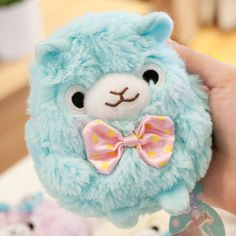 Super cute! Alpaca animal plush doll gift mini purse small pendant